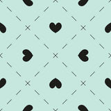 Hearts and dashes pattern Stock Photo