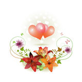 Hearts decorated Royalty Free Stock Images