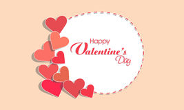 Hearts decorated frame for Valentines Day celebration. Stock Images