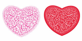 Hearts  with a decorative pattern Royalty Free Stock Photo