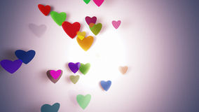 Hearts with depth of field, Valentine's Day. Background Royalty Free Stock Image