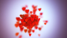 Hearts with depth of field, Valentine's Day. Background Stock Photography