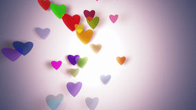 Hearts with depth of field, Valentine's Day. Background Royalty Free Stock Photography