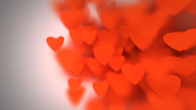 Hearts with depth of field, Valentine's Day Stock Images