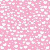 Hearts Design Background. Greeting Card Valentine Day. Vector illustration. Heart pattern. Falling Confetti. EPS 10. royalty free illustration