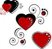 Hearts, design elements Royalty Free Stock Photo