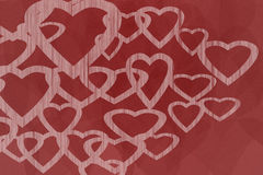 Hearts Design with Red Background Royalty Free Stock Photo