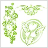 Hearts design for tattoo. Vector illustration. Stock Photography