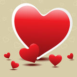 Hearts design for Valentines Day. Royalty Free Stock Photography