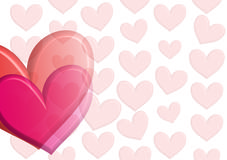 Hearts of desire. Heart for note taking stock illustration