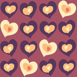 Hearts different color and size in hearts other color and size. Glowing hearts different color and size in hearts other color and size Royalty Free Stock Photography