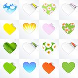Hearts In Different Kinds Stock Images