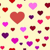 Hearts of different shades Royalty Free Stock Photos