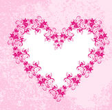 Hearts on dirty pink background. Vector Royalty Free Stock Photo