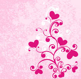 Hearts on dirty pink background. Vector Stock Photos