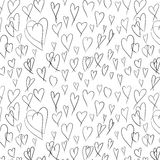 Hearts doodle seamless pattern Stock Image