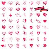 Hearts doodle  Stock Photo
