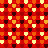 Hearts and Dots. Abstract seamless background - multicolored hearts and dots. EPS10 vector Stock Images
