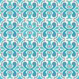 Hearts and dots. Pretty simple seamless abstract pattern with hearts and dots Stock Photography