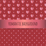 Hearts and dots romantic background Royalty Free Stock Photo