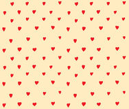 Hearts dots seamless pattern simple decoration Stock Image