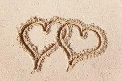 Hearts drawn. Stock Photography