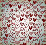 Hearts drawn Stock Images