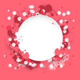 Hearts dust abstract St. Valentine`s Day background Royalty Free Stock Images