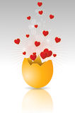Hearts egg Royalty Free Stock Photography