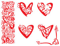 Hearts and elements for design Royalty Free Stock Image
