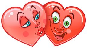 Hearts Emoticons Smiley Emoji Stock Photography