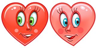 Hearts Emoticons Smiley Emoji Stock Images