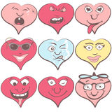 Hearts emotions Royalty Free Stock Photos