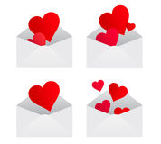 Hearts from envelopes Royalty Free Stock Photography