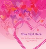 Hearts Expressing Love for Dear Ones. Hearts Expressing Love between people, especially during special occasions such as birthdays, weddings, anniversaries Stock Images