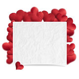 Hearts of fabric Royalty Free Stock Images