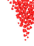 Hearts fall. A computer generated image of red hearts falling down Royalty Free Stock Image
