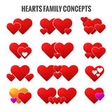 Hearts family concepts. Royalty Free Stock Images