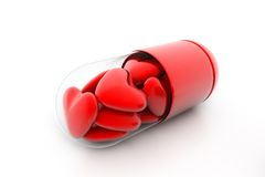 Hearts Filled In Pill Royalty Free Stock Photos