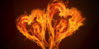 Hearts Fire Love Stock Photos