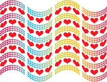 Hearts flag Stock Photography