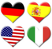 Hearts of Flags Royalty Free Stock Photo
