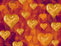 Hearts and Flames Royalty Free Stock Photo