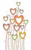 Hearts floral design royalty free stock photos