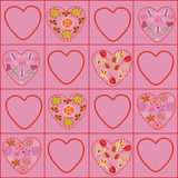 Hearts floral pattern Royalty Free Stock Photos