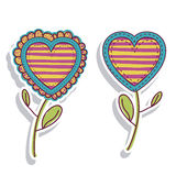 Hearts florals Stock Photo