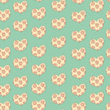 Hearts in a floret. Heart in a floret seamless pattern Royalty Free Stock Photos