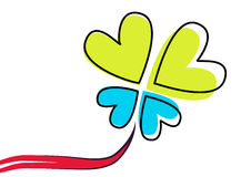 Hearts flower - vector. Hearts flower in white background, vector Stock Photo