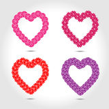 Hearts with flower vector Royalty Free Stock Image