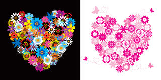 Hearts - flowers Royalty Free Stock Images